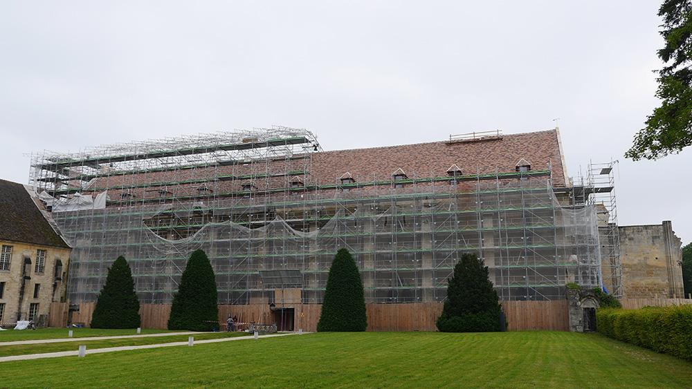 Le Bâtiment des Moines en cours de restauration, se découvre © Fondation Royaumont